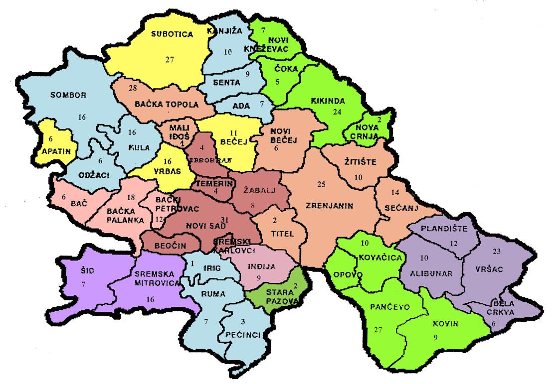 karta vojvodine po opstinama SS Sindikata Vojvodine karta vojvodine po opstinama
